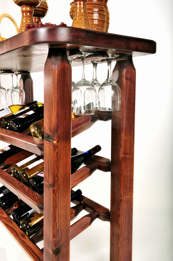 Table with wine rack